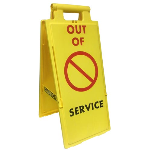 Fold-Up Sign - Out of Service