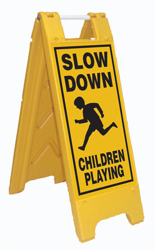 Minicade Fold-Up Sign - Slow Down