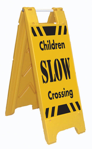 Minicade Fold-Up Sign - SLOW Children Crossing