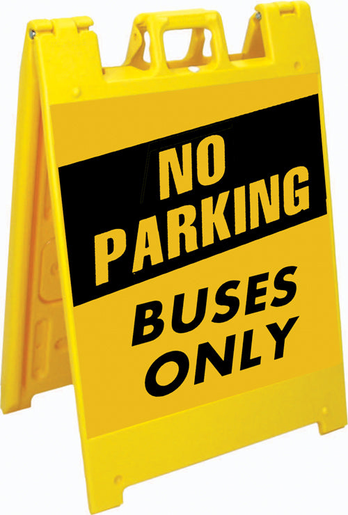 Squarecade™ 36 Fold-Up Sign - No Parking / Buses Only