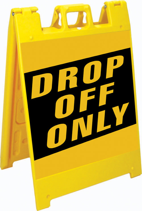 Squarecade™ 36 Fold-Up Sign - Drop Off Only
