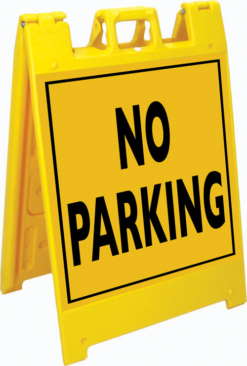 Squarecade™ 36 Fold-Up Sign - No Parking