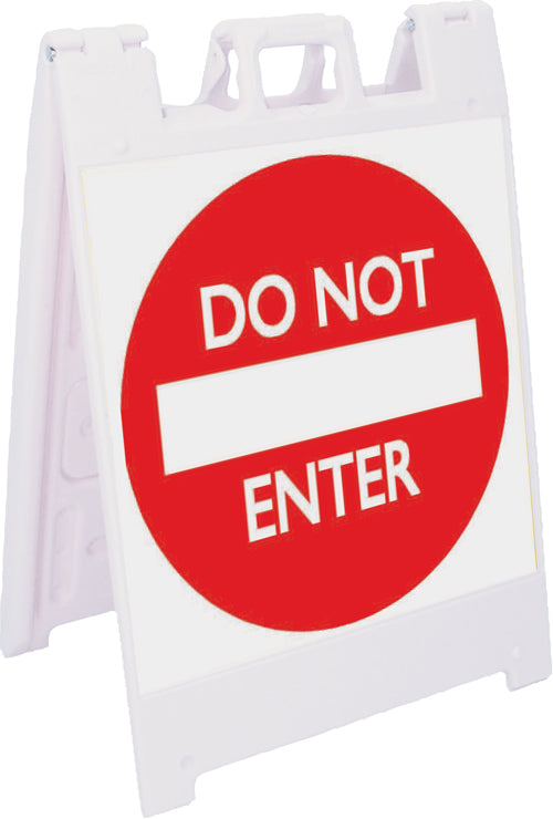 Jumbo Fold-Up Sign - Do Not Enter (Red/White)