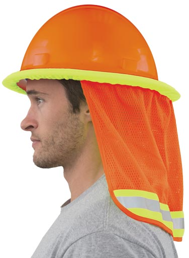 Mesh Neck Shield - Hi-Viz Orange (Pack of 3)