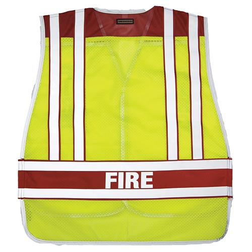 Public Safety Vest - Fire (Lime/Red) M/XL