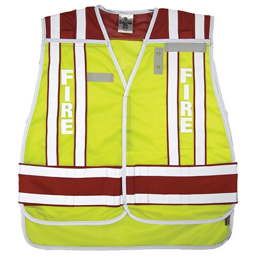 Public Safety Vest - Fire (Lime/Red) 2XL/4XL