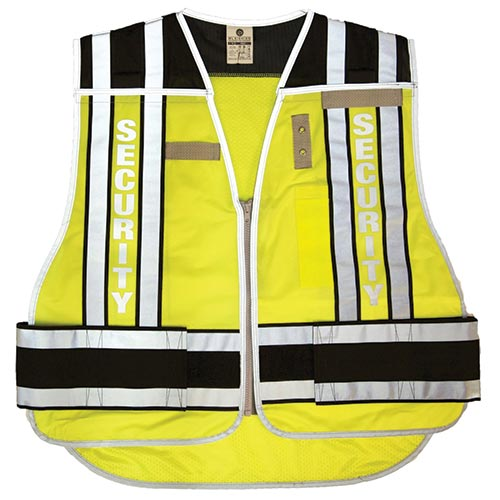 Public Safety Vest - Security (Lime/Black) M/XL