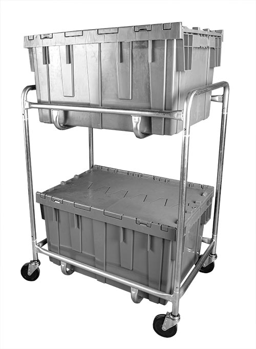 Double Level Container Cart - Small