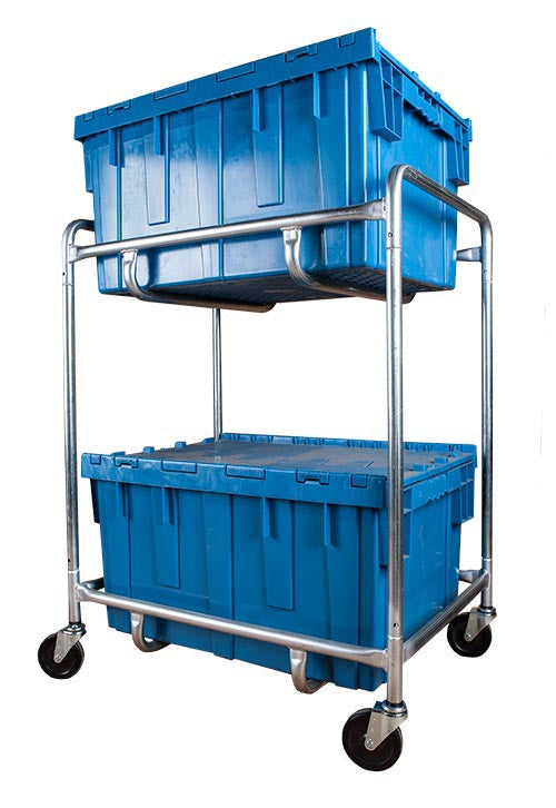Double Level Container Cart - Large