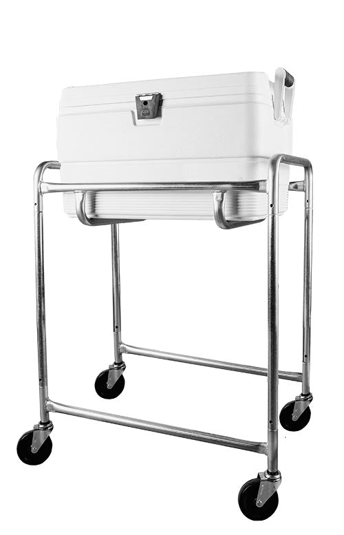 Single Level Ice Cooler Cart