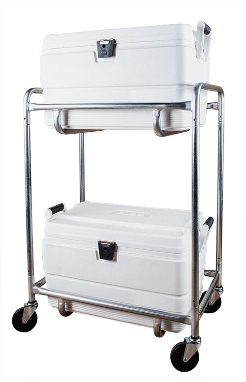Double Level Ice Cooler Cart
