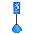 Portable Pole 2 Sign Holder - handicap
