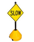 Portable Pole 2 Sign Holder - slow