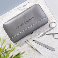 manicure kit personalised grey