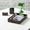 Norfolk Leather Desk Set - Brown