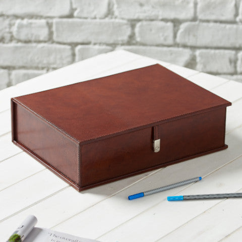 Leather Document Box