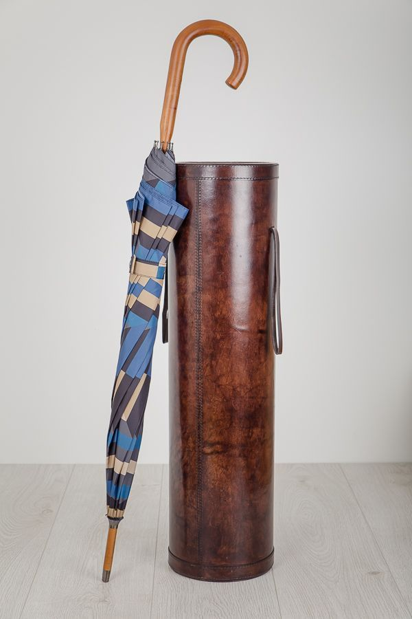 Leather Stick Stand - Brown