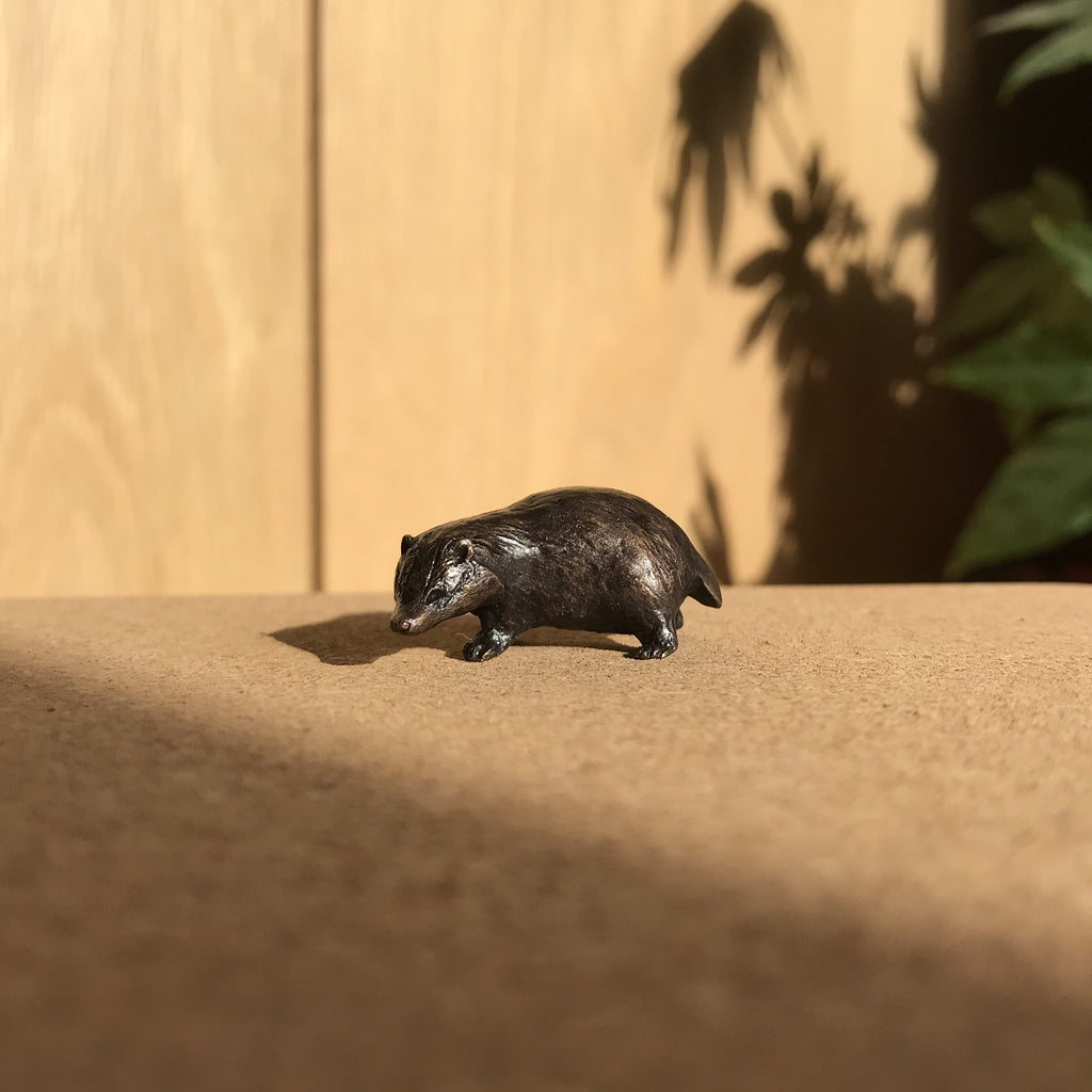 Miniature Bronze Sculpture - Badger