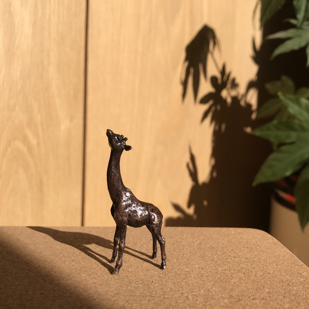 Miniature Bronze Sculpture - Giraffe