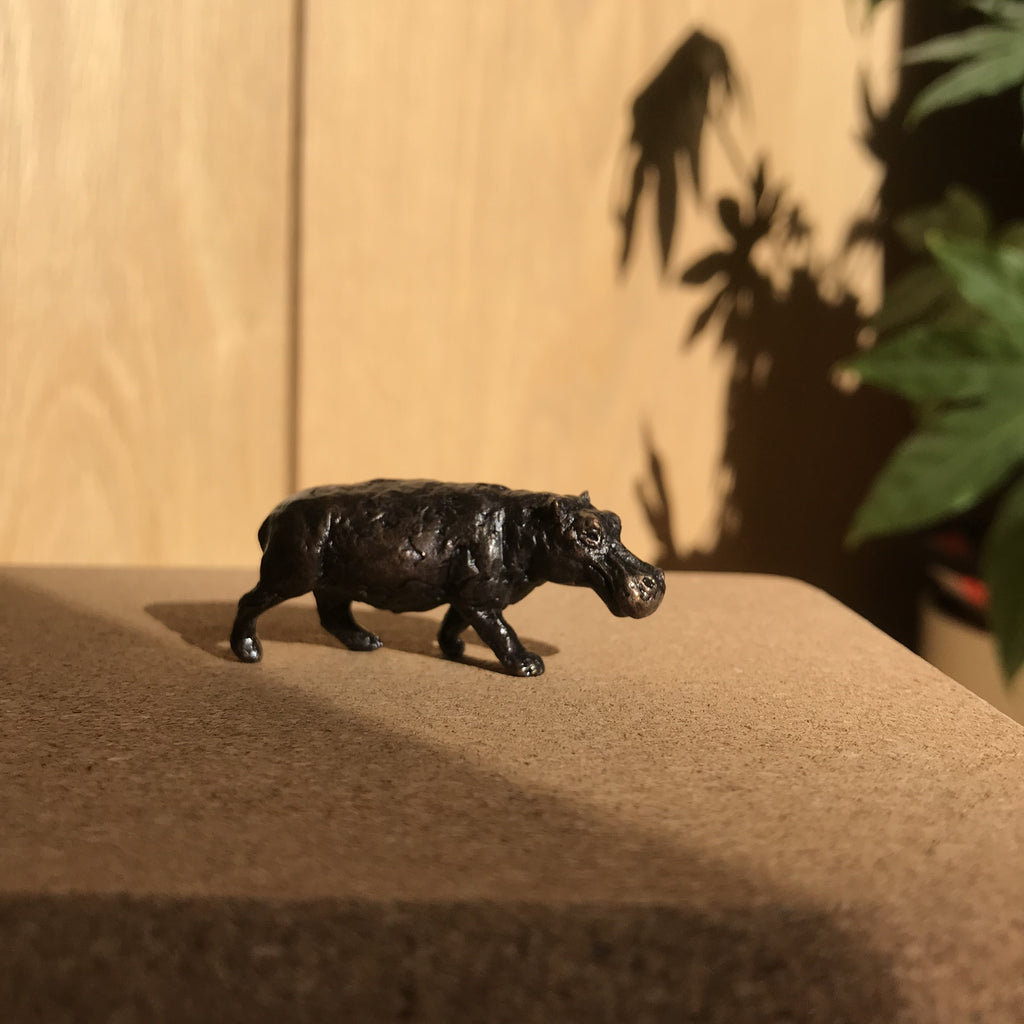 Miniature Bronze Sculpture - Hippo