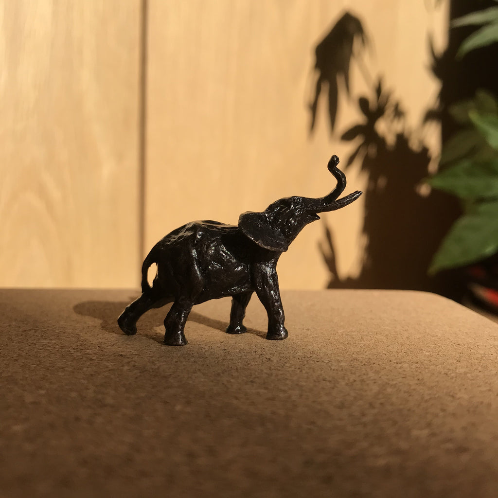 Miniature Bronze Sculpture - Elephant