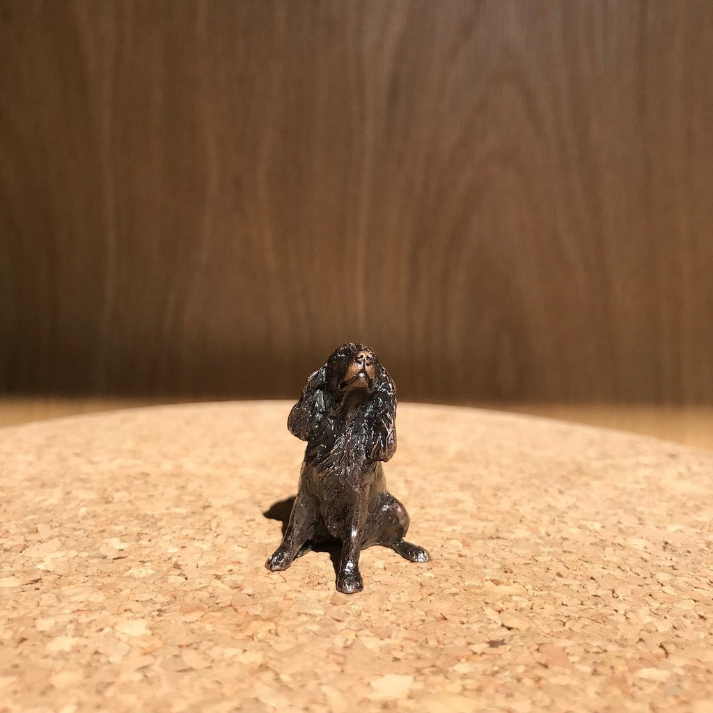 Miniature Bronze Sculpture - Spaniel