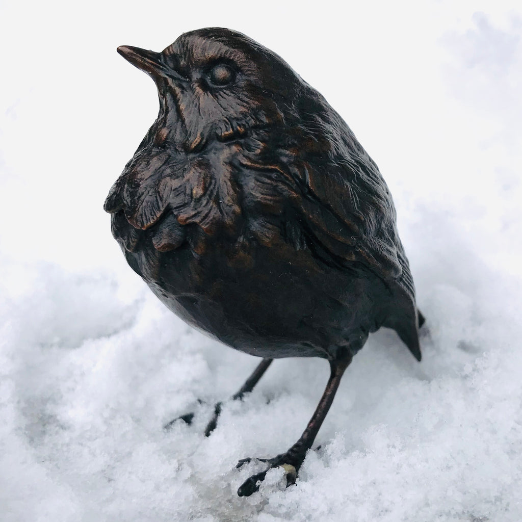 Limited Edition Bronze Sculpture - Robin