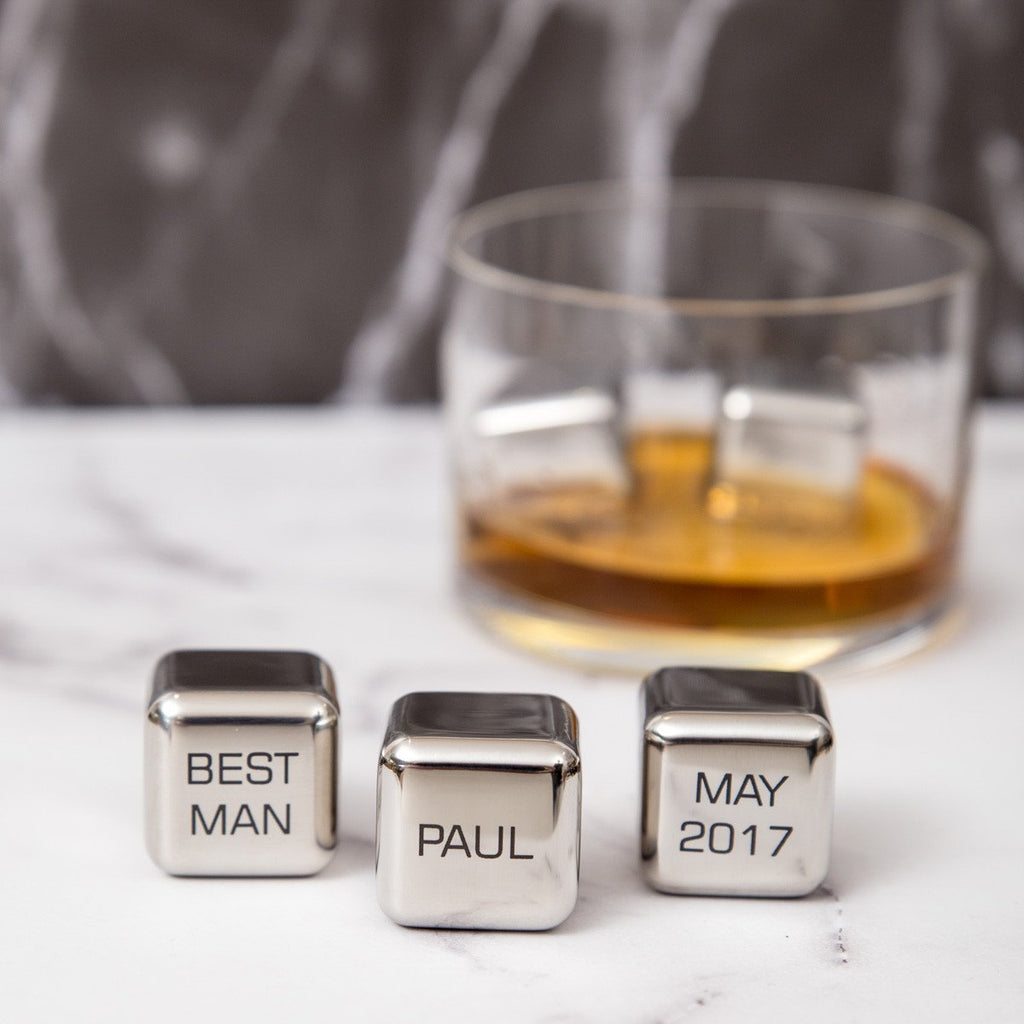 'Best Man' Personalised Whisky Ice Cubes Gift Set