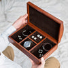 Leather Jewellery Box Curved Lid