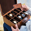 Deluxe Leather Jewellery And Watch Box