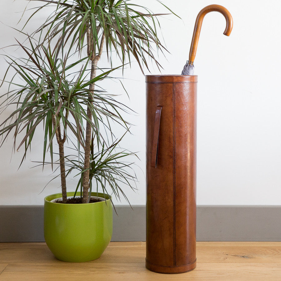 Leather Stick Stand - Tan