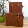 Leather Storage Trunks - 2 colours, 3 sizes