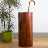 Leather Umbrella Stand - Tan