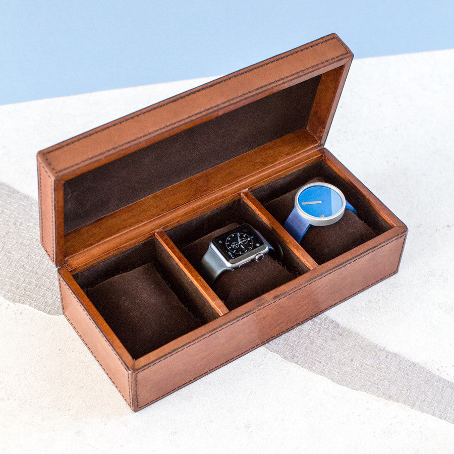Leather Watch Box Large