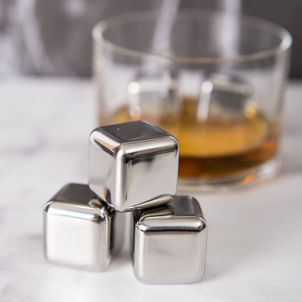 Personalised Stainless Steel Ice Cubes Gift Set