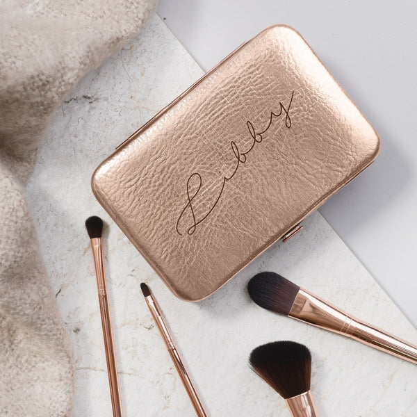 Make Up Brush Kit - Rose Gold