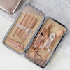 Rose Gold Manicure Set with Initial - 2 sizes
