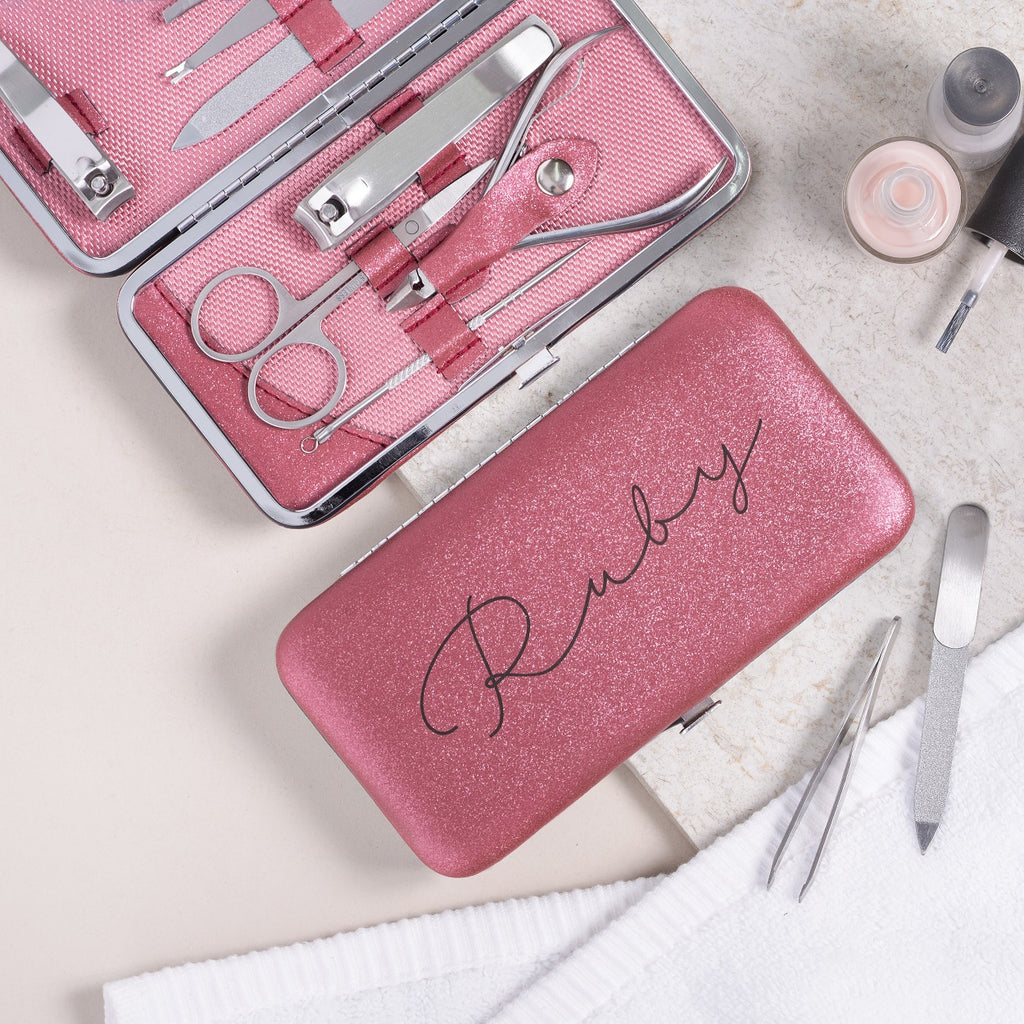 Personalised Manicure Set - Ruby Red