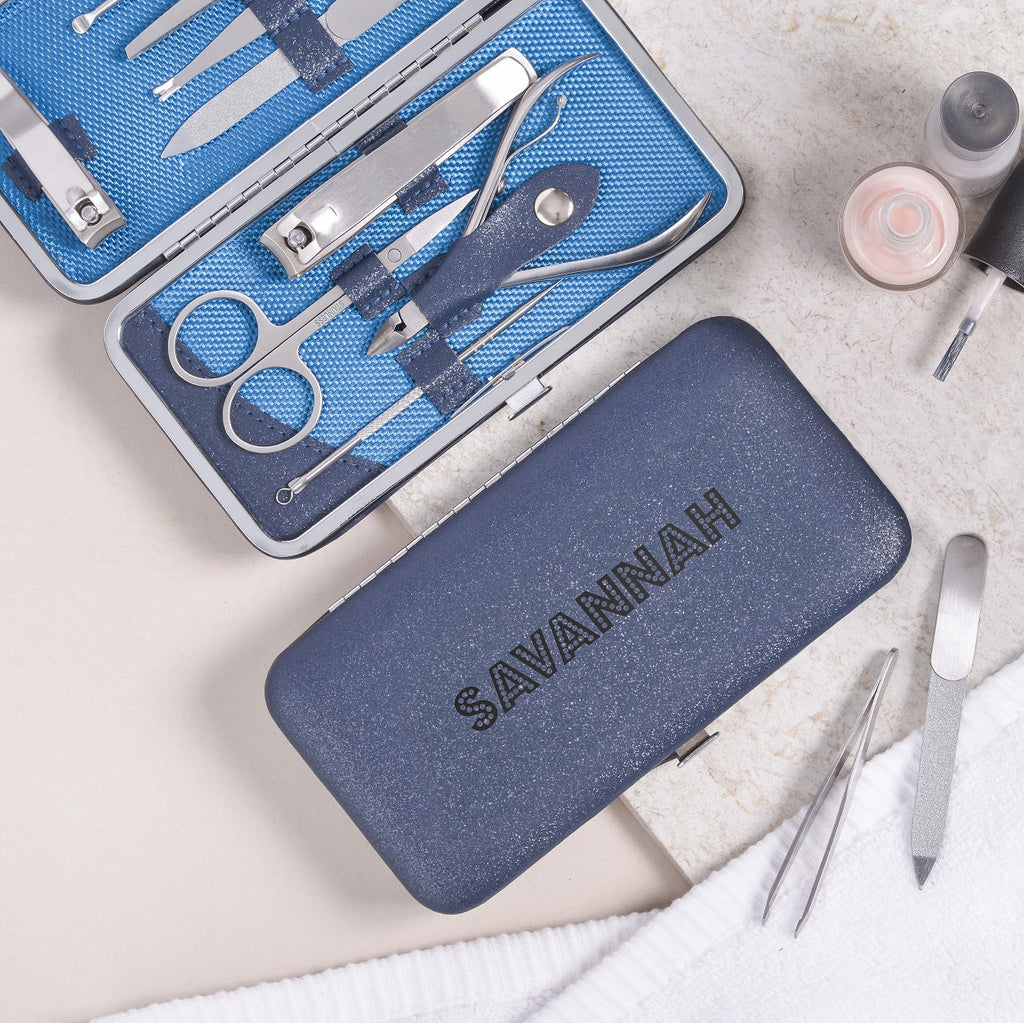 Personalised Manicure Set - Sapphire