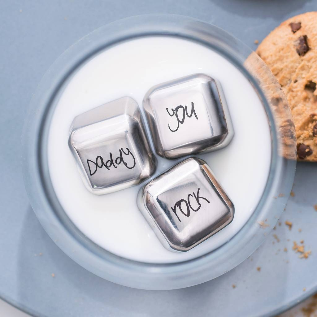 'Daddy you Rock' Stainless Steel Ice Cubes
