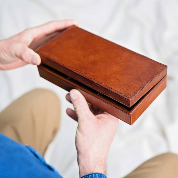 Leather Cufflink Box - Ridgeback