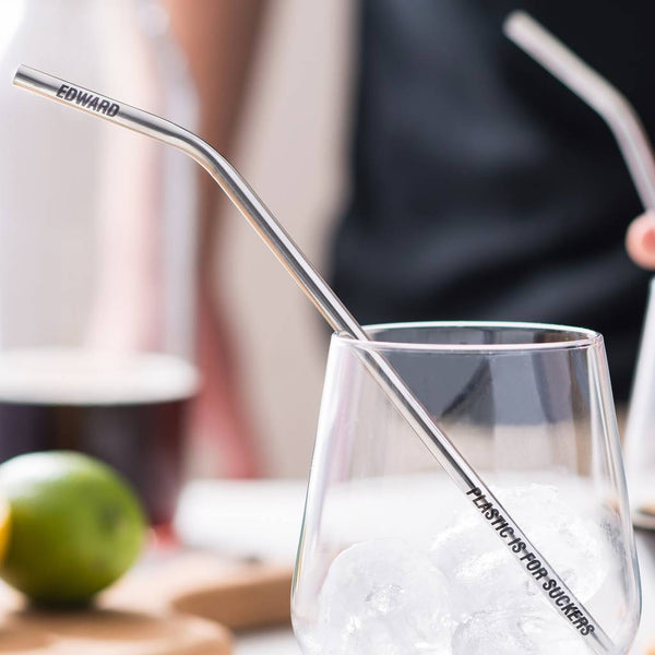 ' I Steel Love You' - Stainless Steel Drinking Straws