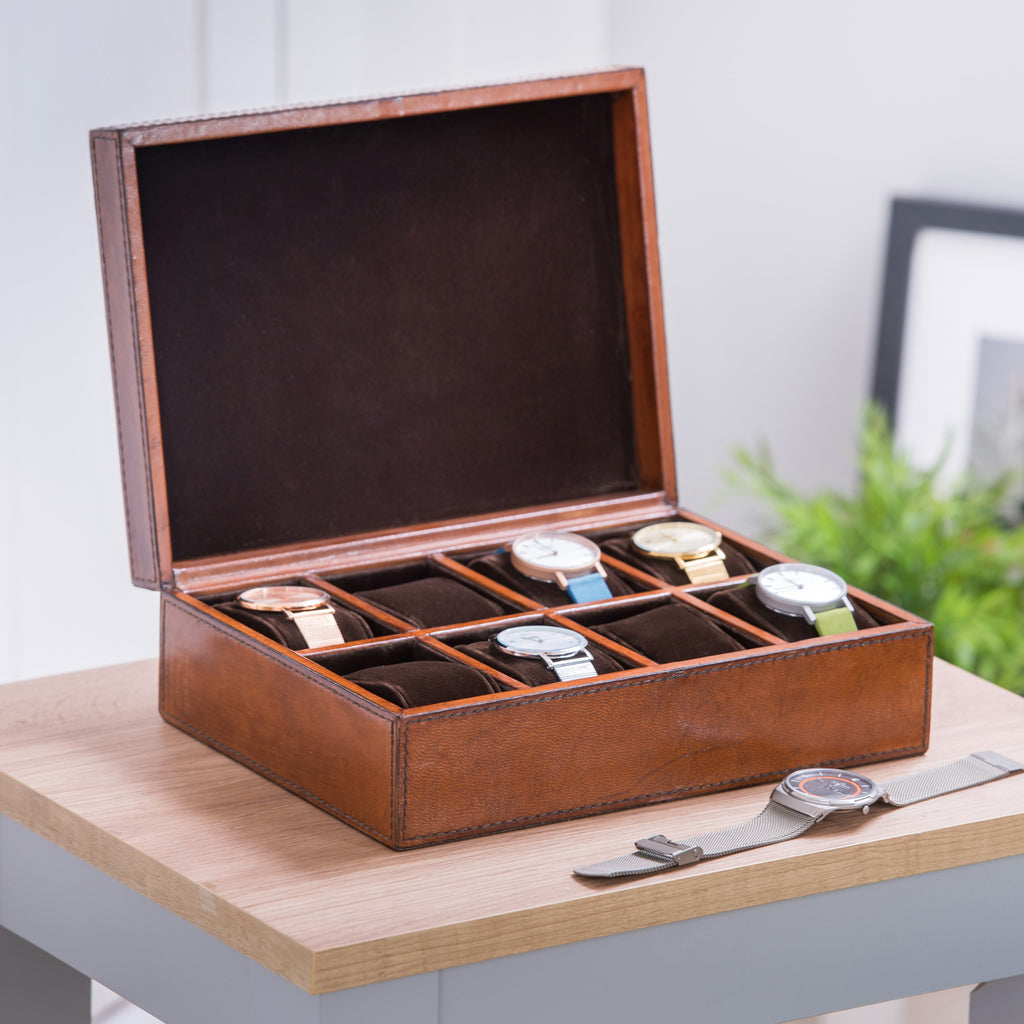 Leather Watch Box - Deluxe