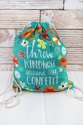 Throw Kindness Drawstring Backpack