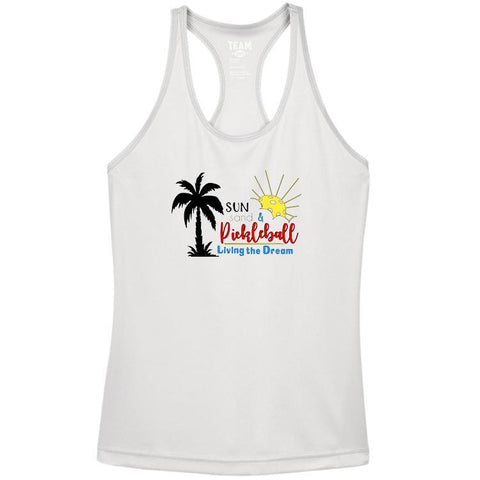 Sun, Sand & Pickleball Women's Racerback Performance Tank