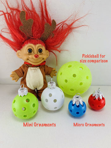 Pickleball Tabletop Christmas Trees Ornaments