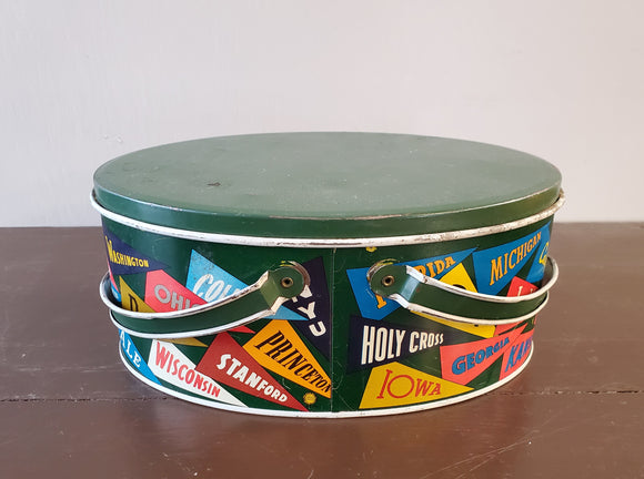 Tin College Football Ohio Arts Lunch Box
