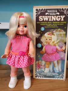 Mattel 1969 Swingy Dancing Doll, Working, in Original Box