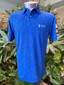 Peter Millar Carl Coral Jacquard Knit Golf Polo