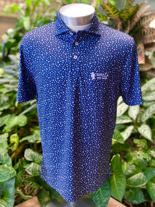 RLX Classic Fit Navy Floral Print Print Golf Polo
